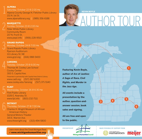 Great Michigan Read Author Tour