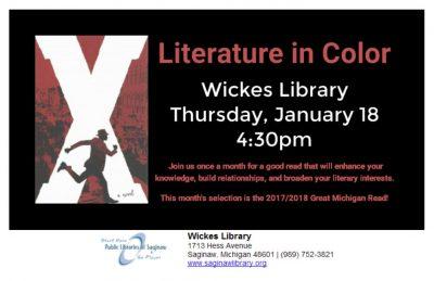 Literature in Color Book Discussion @ Wickes Library   Saginaw   Michigan   United States