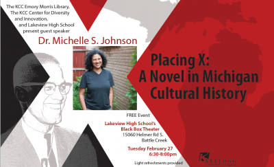 Placing X: A Novel in Michigan Cultural History @ Battle Creek Lakeview High School's Black Box Theater   Battle Creek   Michigan   United States