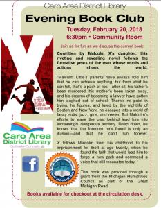 Book Club @ Caro Area District Library   Caro   Michigan   United States