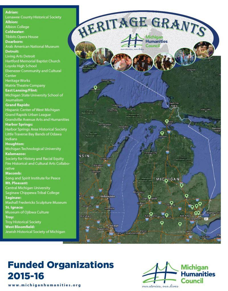 Heritage Grantees2015-16