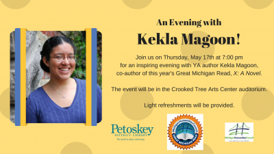 An Evening with Kekla Magoon! @ Crooked Tree Arts Center Auditorium | Petoskey | Michigan | United States