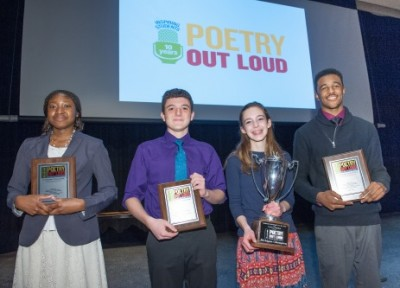 2015 Michigan Poetry Out Loud State Finalists. Photo credit: Dave Trumpie